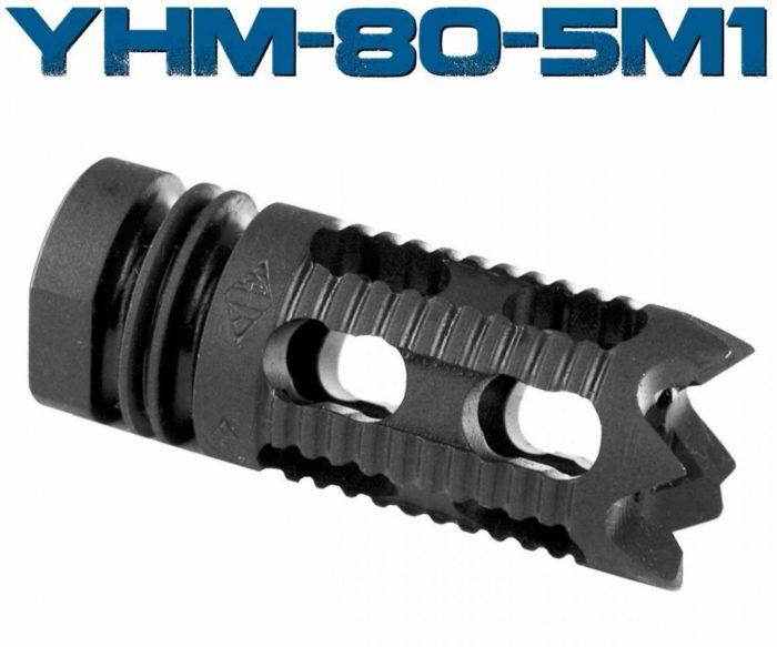 YHM Muzzle Brake 6 8mm / 7 62mm / 9mm 1/2x36